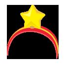 大きな星の頭飾り
