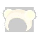 耳付きサンタ帽 ホワイト