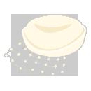 クリスマスドレス帽子 ホワイト