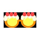 パーティーサングラス ケーキ