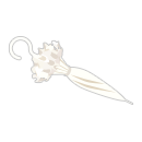 手持ちロリータ日傘 ホワイト