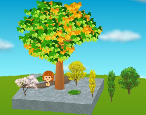 冬桜、ポプラの木A/B、(大地用)ポプラの木A/B 設置例