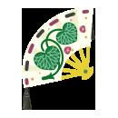 手持ち葵の扇