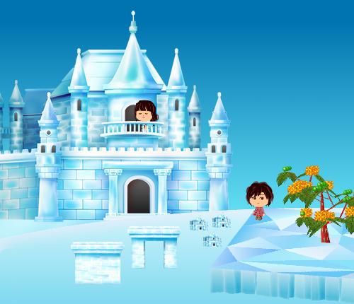 コイコイ氷の城、氷の門、氷の壁 設置例