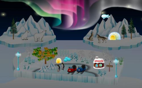 氷の世界を楽しもう!イベント再登場アイテムの設置例