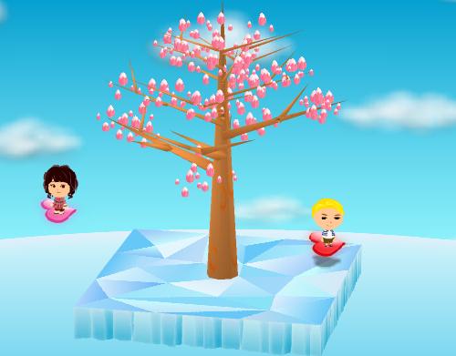 ハートライド 赤/ピンク 設置例