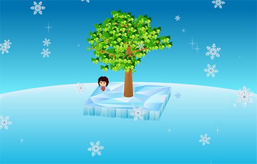 コイコイきらめく雪の結晶×氷上シートA 設置例