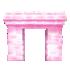 氷の門 ピンク