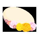 お花のベレー帽