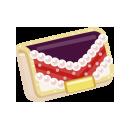 モガクラッチバッグ 紫赤
