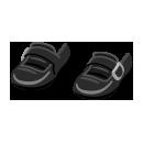 ストラップ靴 黒