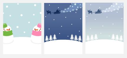 クリスマス風背景 3種
