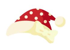 サンタ帽(水玉)