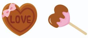 LOVEチョコ&ハートチョコバー