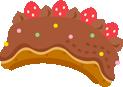 チョコケーキ帽