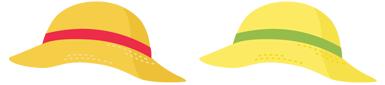麦わら帽子 2色