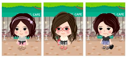 コーディネート例(オープンカフェ)
