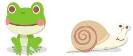 頭のせカエル&頭のせカタツムリ