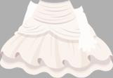 フリルウェディングドレス