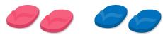 ビーチサンダル(ピンク)&ビーチサンダル(青)