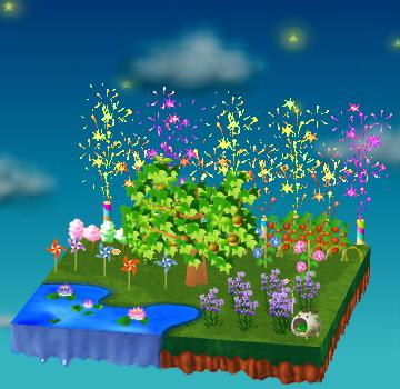 庭の飾り付け例