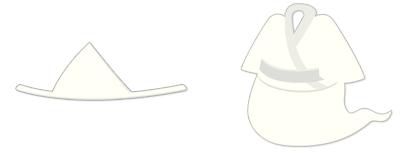 おばけ風三角頭巾&おばけ風白装束