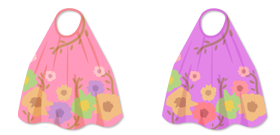 花柄マキシワンピ ピンク&紫