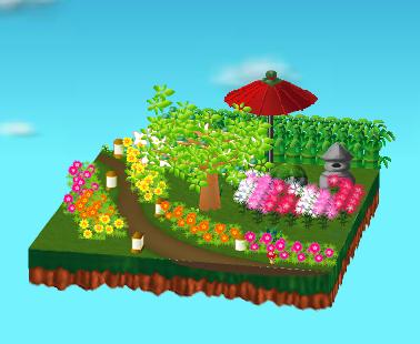 庭の飾り付け例 昼間