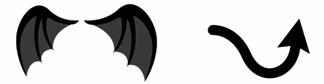 小悪魔の羽&小悪魔の尻尾