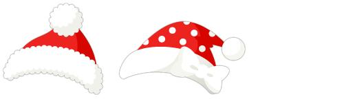 サンタ帽&サンタ帽(水玉)