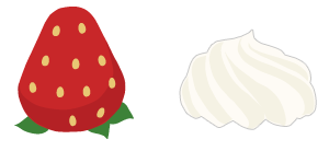 頭のせイチゴ&頭のせホイップ