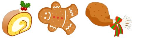 クリスマスロールケーキ&ジンジャークッキー&特大クリスマスチキン