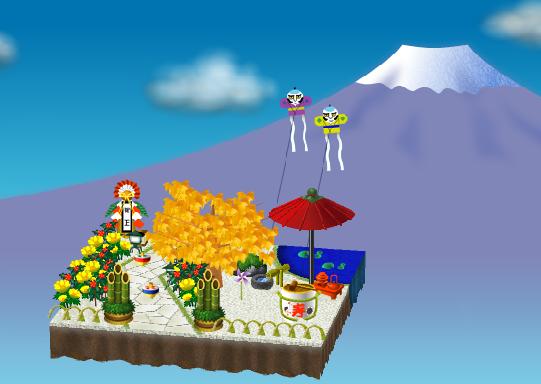 庭の飾り付け例 昼