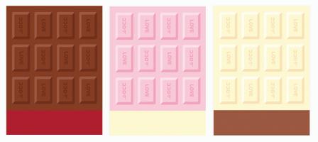 背景:板チョコ各種