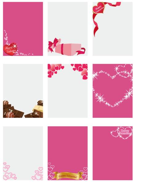バレンタインフレーム各種