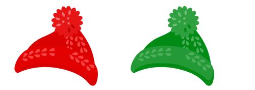 ニット帽(ぼんぼん付) 2色