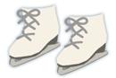 スケート靴 白