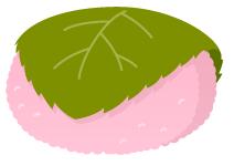 頭のせ桜もち(道明寺)