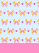 ラブリー蝶々 水色