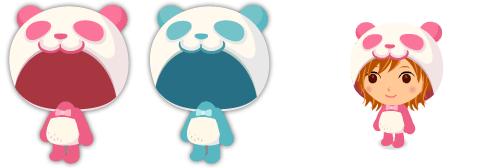 パンダの着ぐるみ各種
