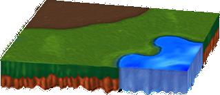 水辺と土のあるシートA