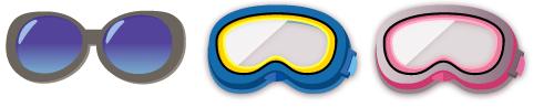 頭のせサングラス、ゴーグル 各種