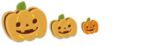 特大かぼちゃクッキー、ミニかぼちゃクッキー、かぼちゃクッキー指輪