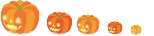 かぼちゃランタン 5種