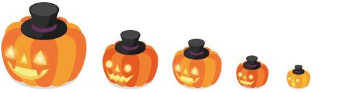 かぼちゃランタン帽子 5種