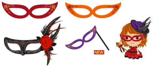 舞踏会メガネ 各色、舞踏会マスク、舞踏会手持ちメガネ 紫