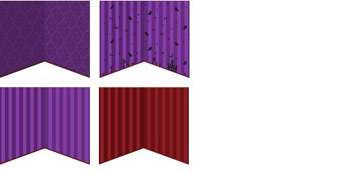 壁紙 ゴシック紫、壁紙 紫ハロウィン柄、壁紙 紫ストライプ、壁紙 赤ストライプ