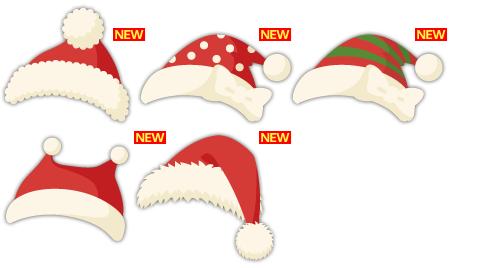 サンタ帽各種