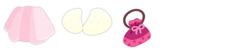 羽織 薄ピンク、ファーショール、巾着 ピンク