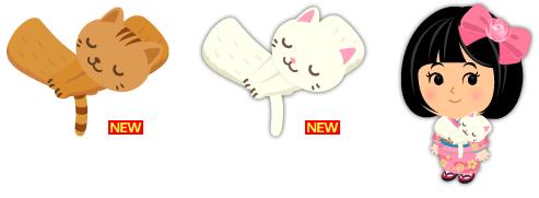 猫マフラー茶トラ、猫マフラー白